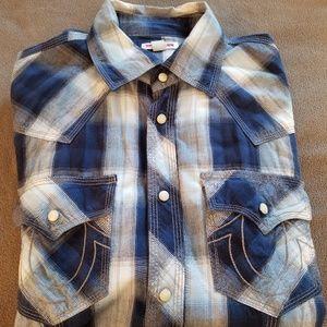 Mens True Religion button down shirt